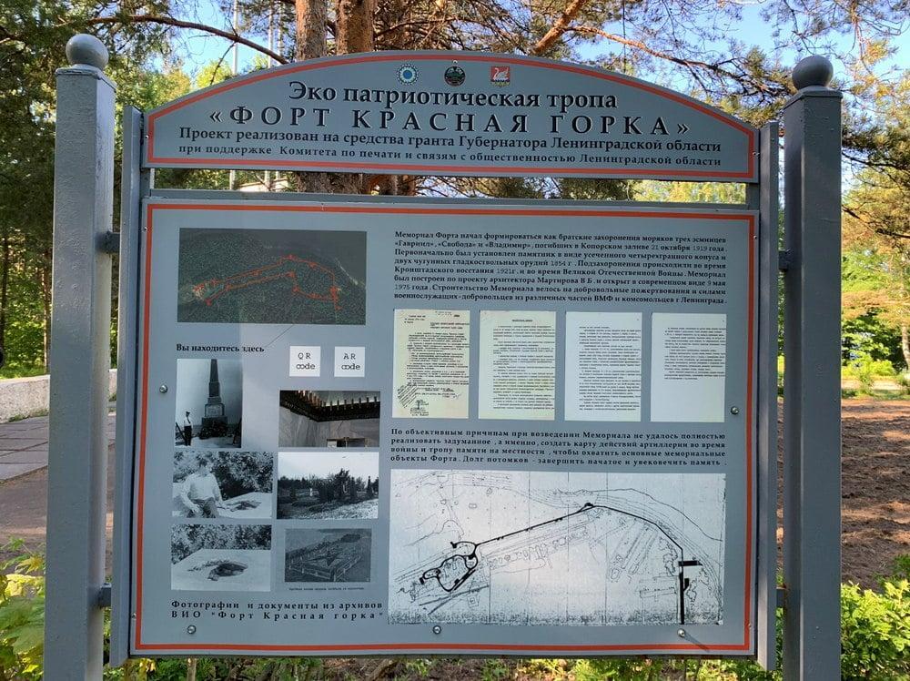Эко патриотический маршрут тропа форта красная горка