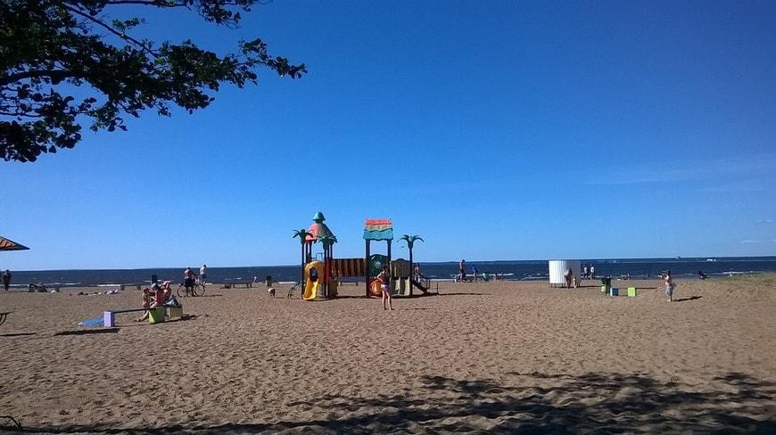 Пляж в городе Сестрорецк