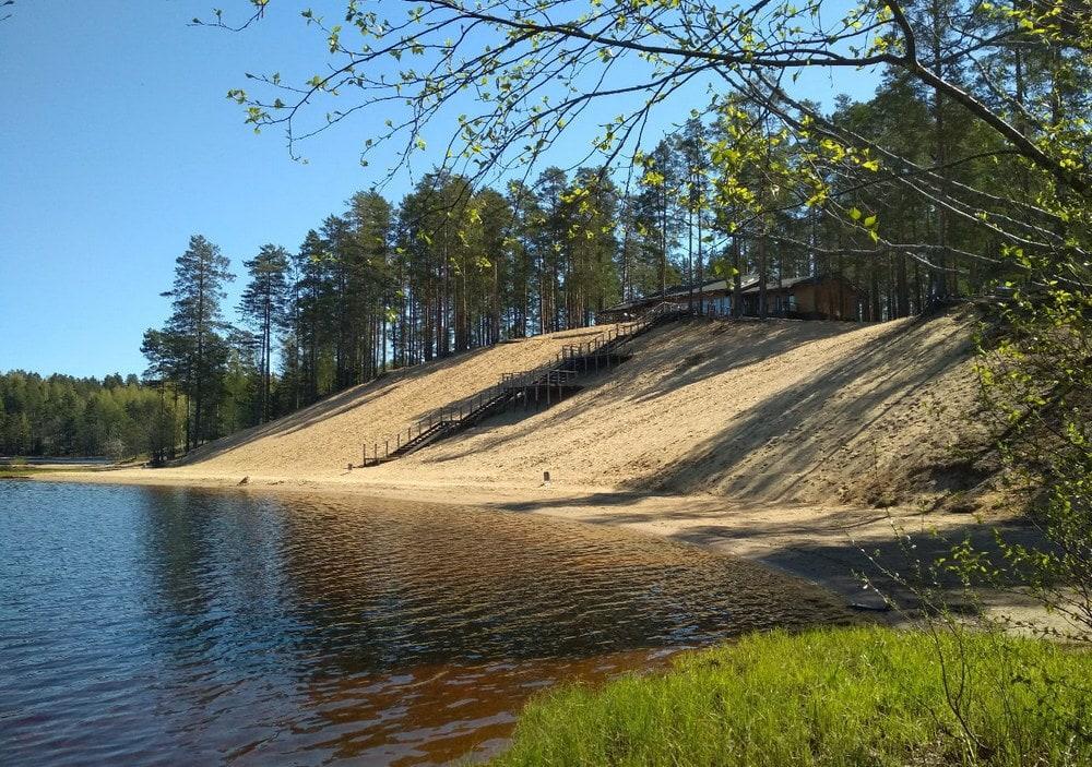 Большое Симагинское озеро в Ленинградской области