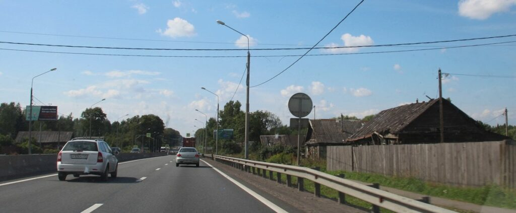 Разрыв трассы м11 в Твери