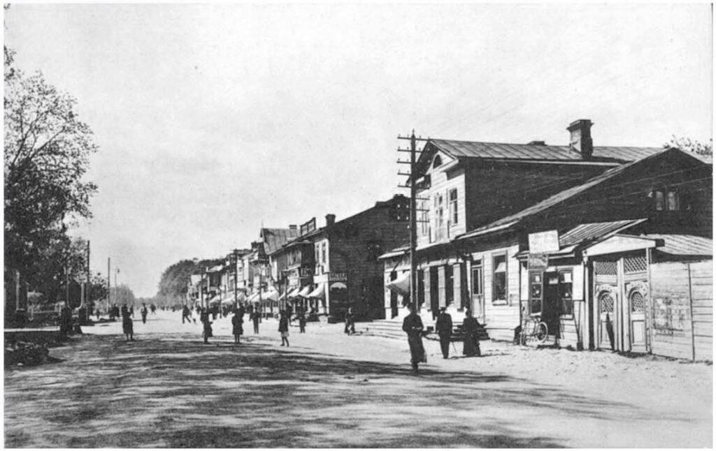 Петергофское шоссе напротив Орловского парка 1900-1917 гг.