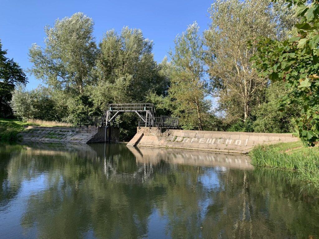 Плотина петровских времен на реке Стрелка