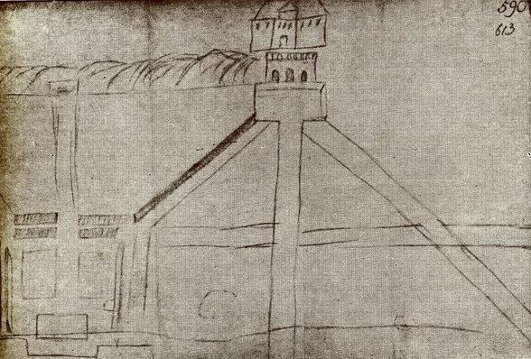 Композиция центрального и восточного ансамблей Нижнего парка Петергофа рисунок Петра I