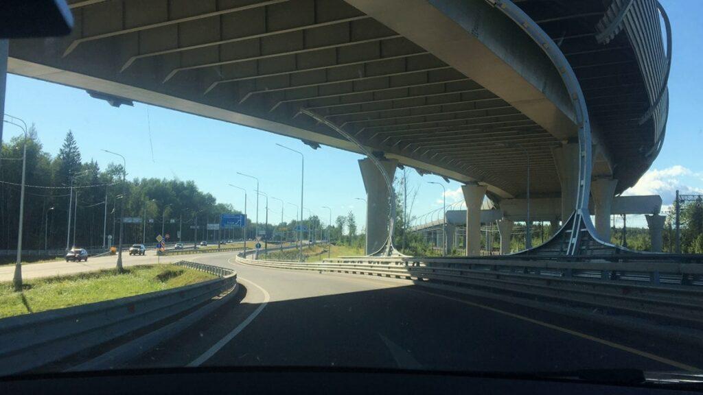 Съезд с ЗСД на Новое шоссе