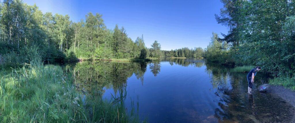 Озеро вначале экотропы Сестрорецкое болото
