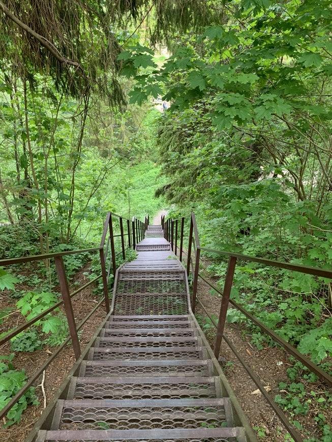 Лестница к Верхней Рудицы