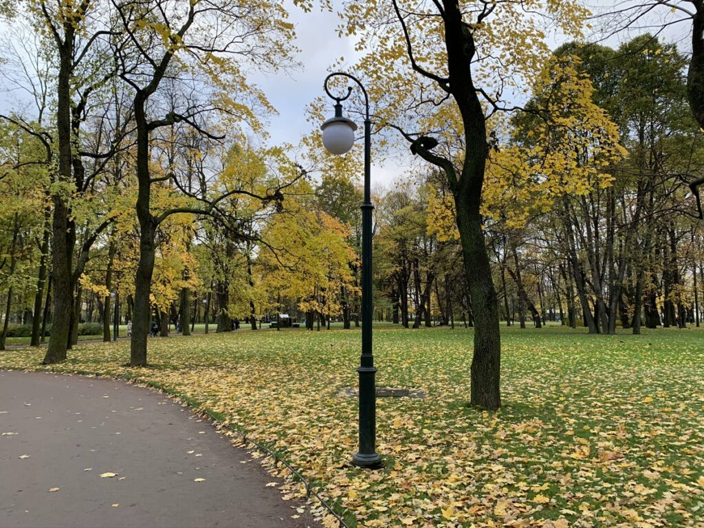 Михайловский сад осенью