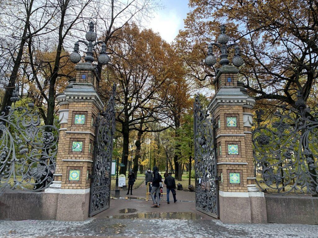 Ворота в Михайловский сад архитектор Альфред Парланда