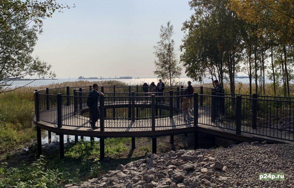 Видовая площадка в парке Остров Фортов