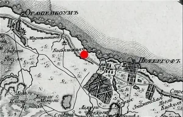 Фрагмент карты Сергиевки 1796 г.