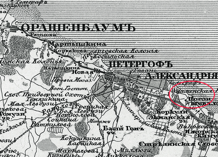 План Сергиевки 1834 года.