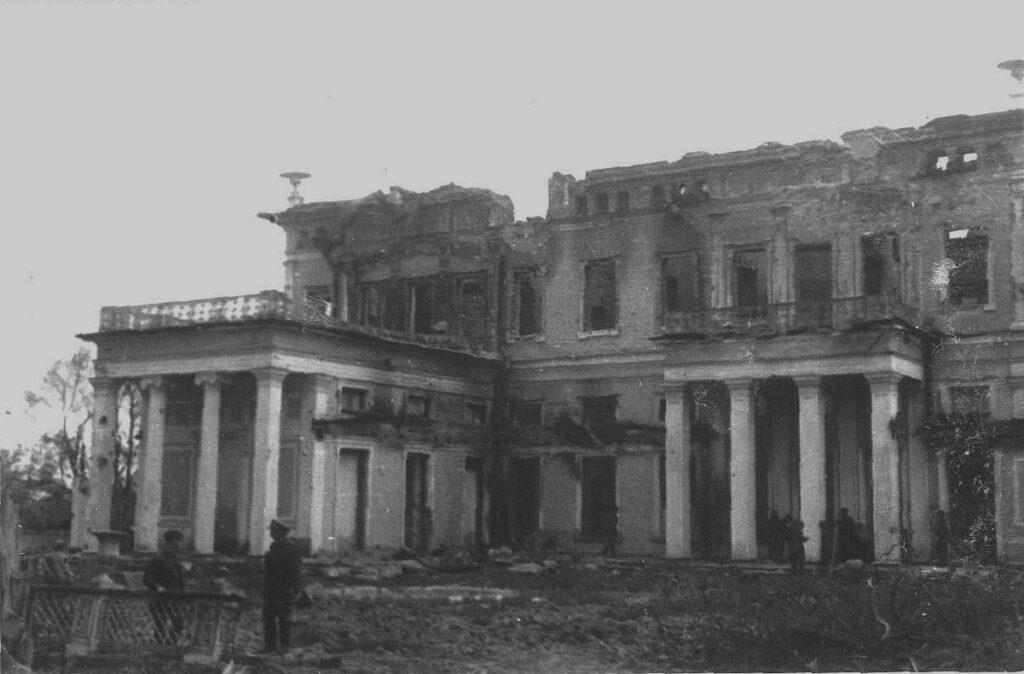 Усадьба Сергиевка во время Великой отечественной войны, фото 1944