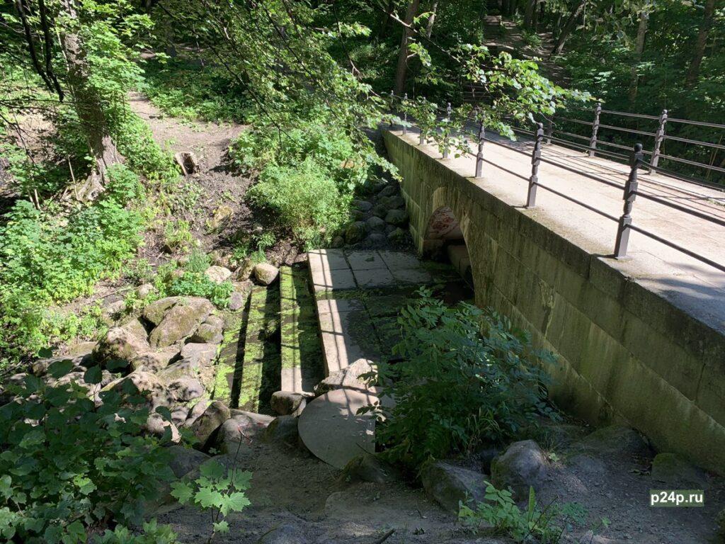 Мост плотина в Сергиевке