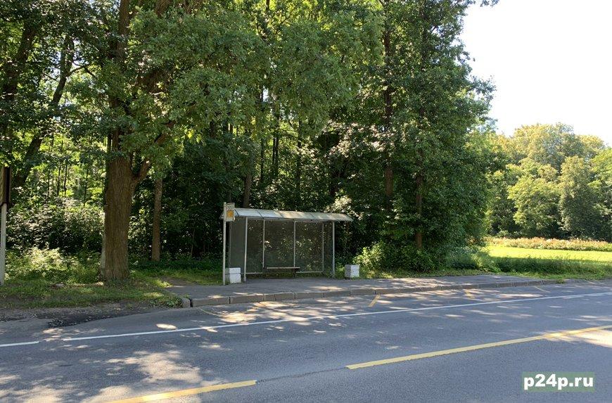Автобусная остановка у парка Сергиевка