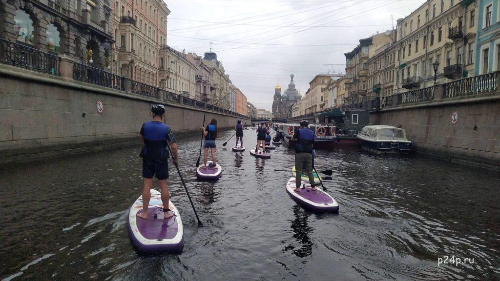 На САП по каналу Грибоедова у собора Спас на Крови