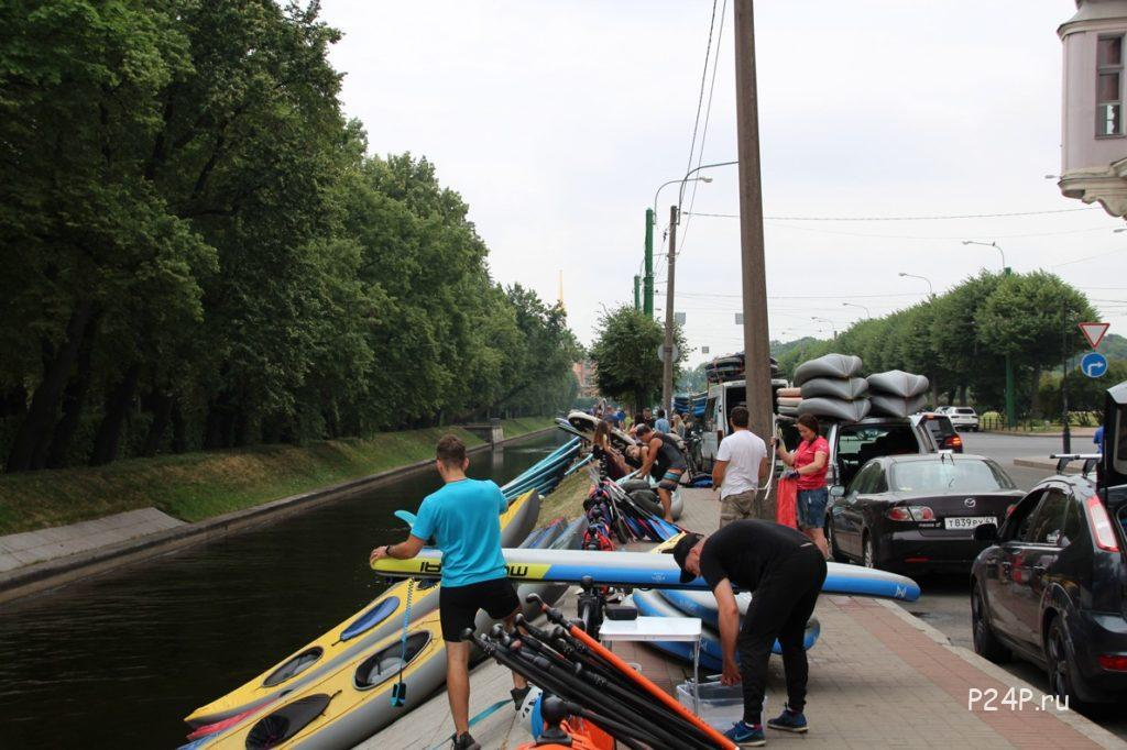 Сбор САП серферов у Лебяжьей канавки