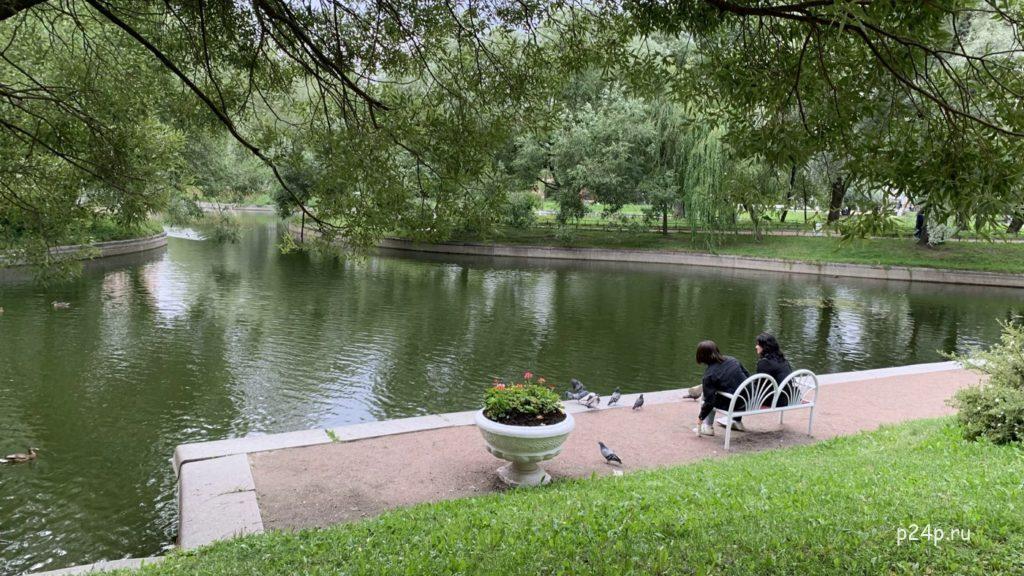 Юсуповский сад, одно из любимых мест отдыха Достоевского